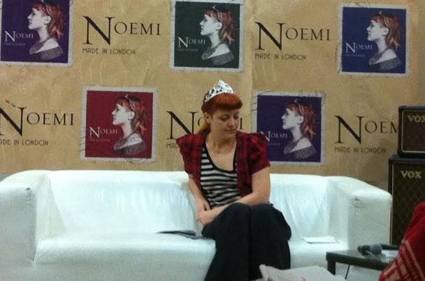 Noemi durante la nostra intervista