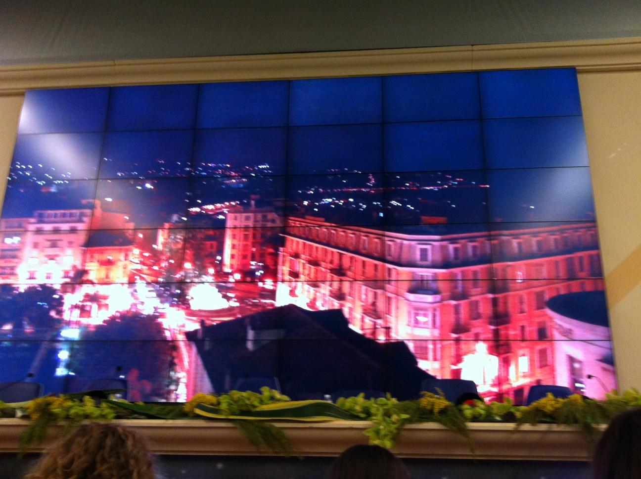 Sanremo vista dalla sala stampa dell'Ariston