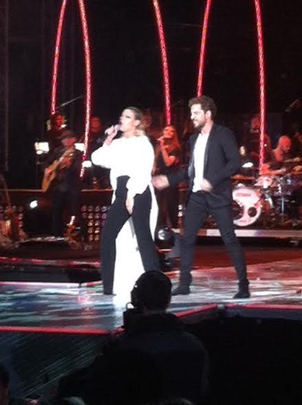 Emma Marrone con David Bisbal all'Arena di Verona