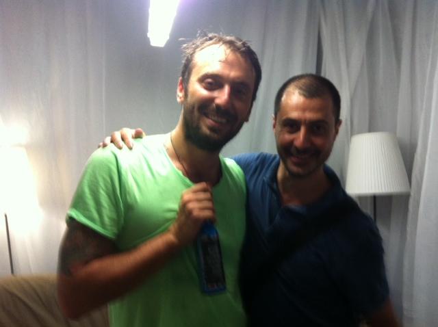 Con Cesare all'Arena...io giornalista lui gladiatore