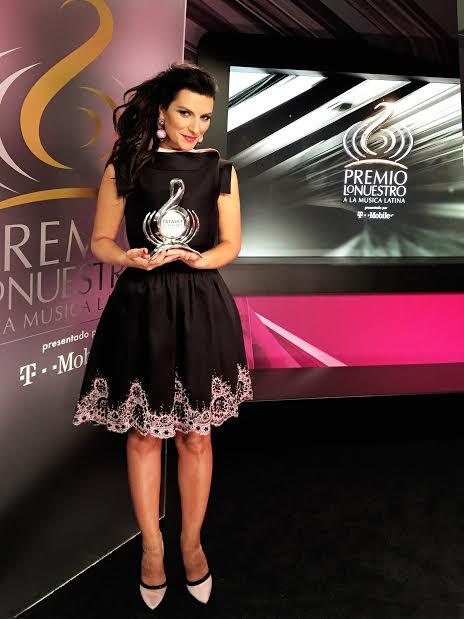 Laura Pausini col premio