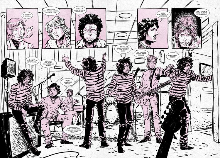 Una pagina della bio-graphic di Syd Barrett