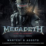 Megadeth, una sola data in Italia