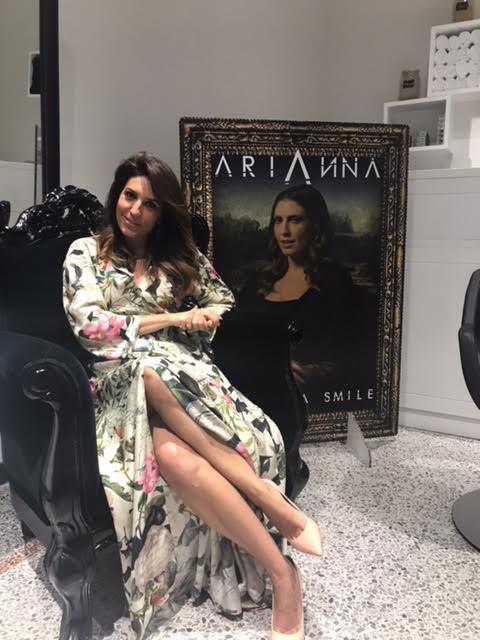 Arianna durante l'intervista