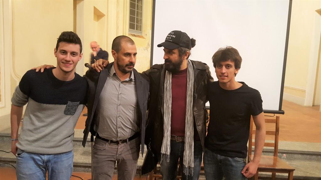 Omar Pedrini, io e i due musici che ci hanno accompagnato