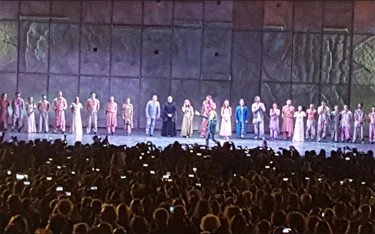 Il cast di Notre Dame de Paris all'Arena di Verona