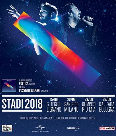 Cremonini negli Stadi 2018
