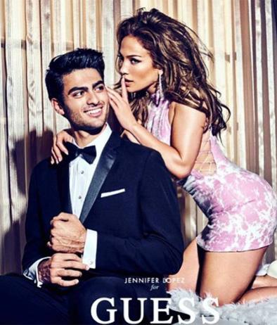 Matteo Bocelli con Jennifer Lopez per Guess